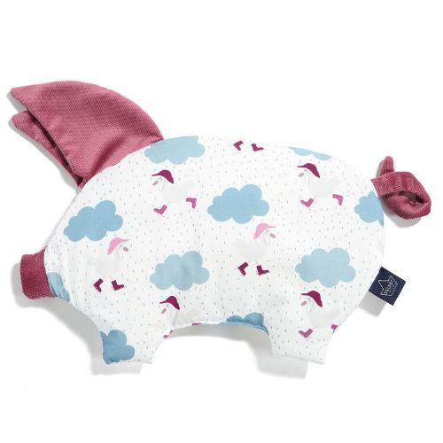 La Millou DANCING IN THE RAIN SLEEPY PIG PILLOW (MULBERRY)